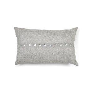 Gray Button Kidney Cushion
