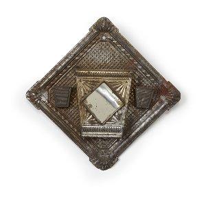 Antique Pressed Tin Match Holder