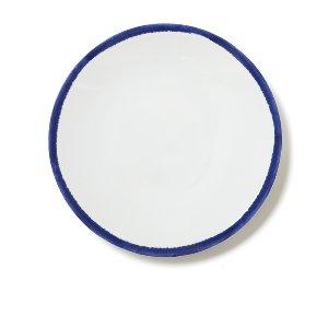 White & Cobalt Blue Dinner Plate