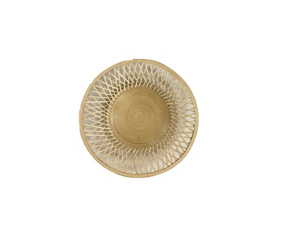 Flat Round Light Wood Basket