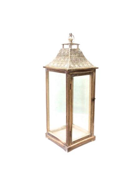 Light Wood Floor Lantern