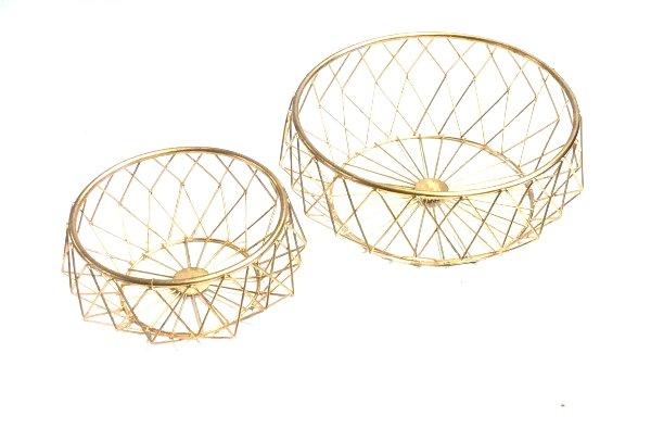 Gold Wire Baskets Set
