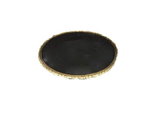 Gold Oval Tabletop Chalkboard