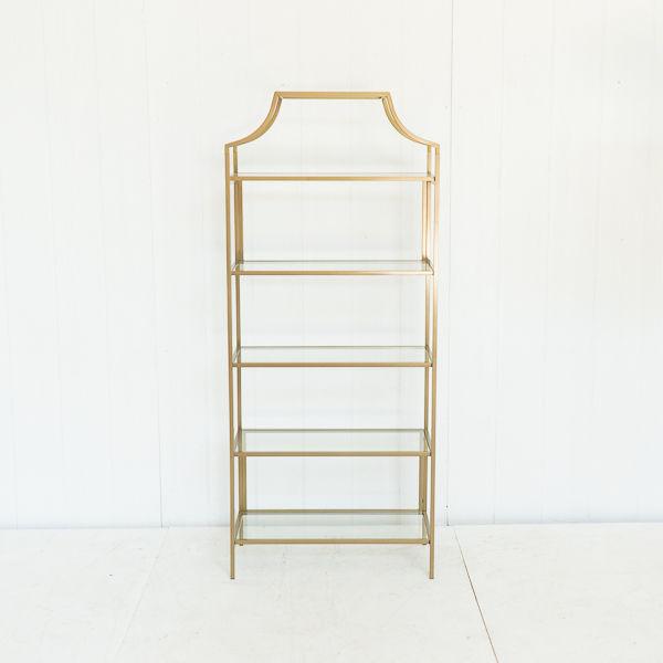 Brass Scalloped Shelves