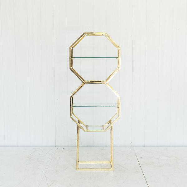 Hexagon Two Tier Glass Shelf