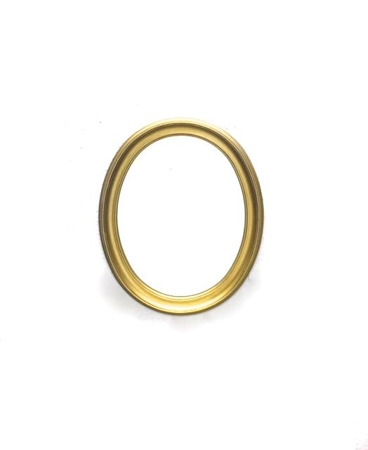 Medium Gold Oval Mirror