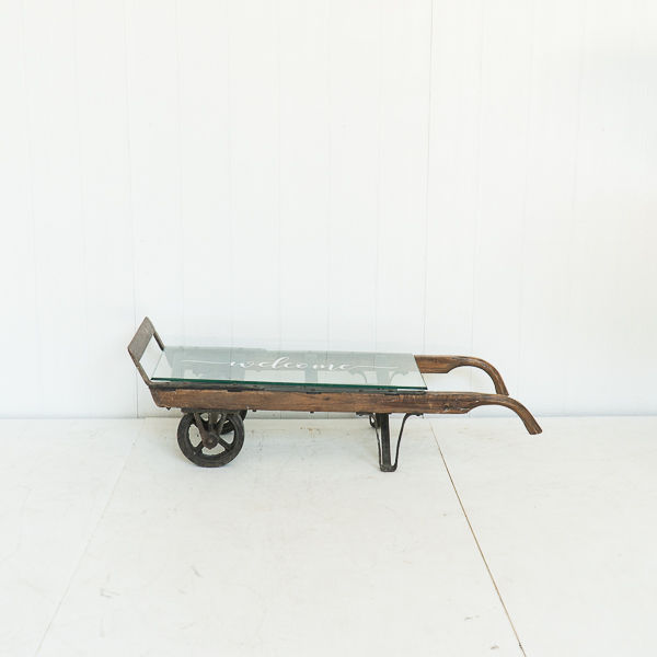 Vintage Hand Cart Coffee Table