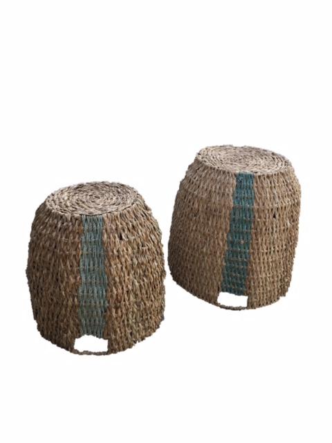 Blue Striped Basket Set