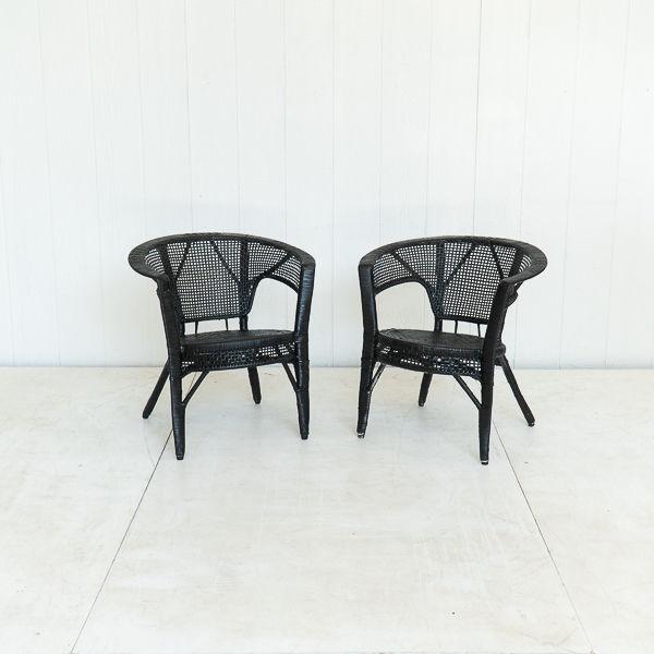 Black Wicker Chairs