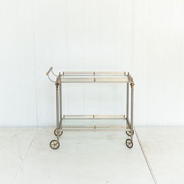 Platinum and Brass Bar Cart