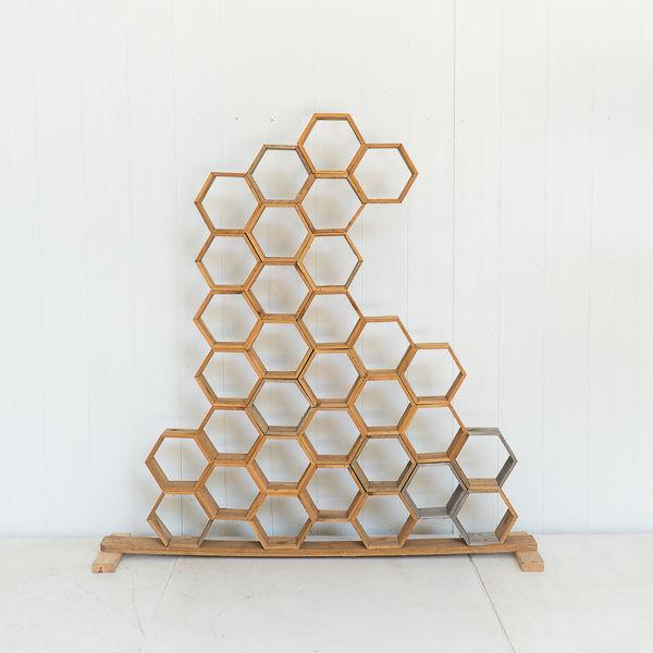 Honeycomb Wooden Backdrop