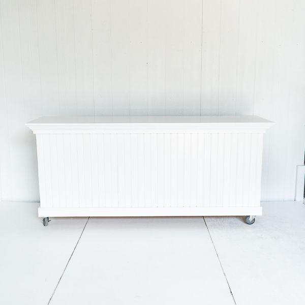 White Beadboard Bar