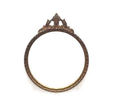 Large Gold Circle Mirror
