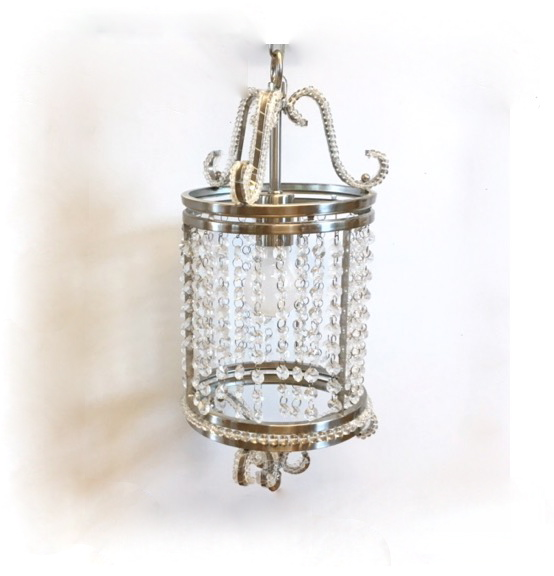 Silver Crystal Pendant Lamp