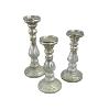 White Mercury Glass Candle Set