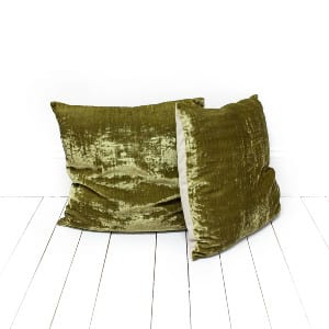 Olive Velvet Pillows
