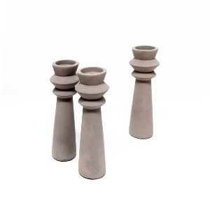 Cement Candle Holders - Large