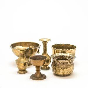 Assorted Brass Vessels