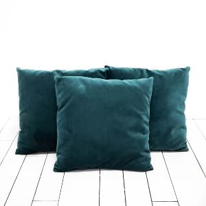 Peacock Blue Velvet Pillows