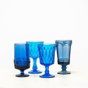 Blue Water Goblets