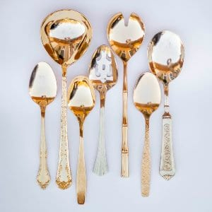 Assorted Gold Large Spoons