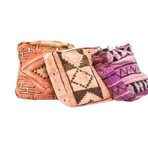 Moroccan Rug Poufs