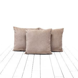 Tan Velvet Pillows