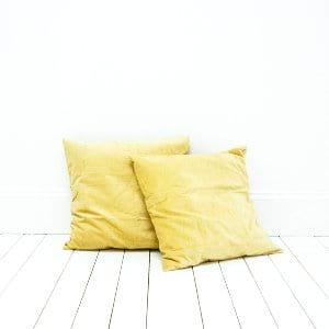 Yellow Velvet Pillows