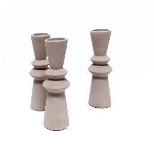 Cement Candle Holders - Medium