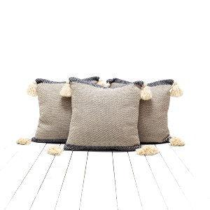 Blue Tassel Pillows