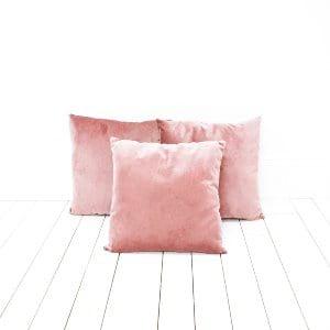Mauve Velvet Pillows