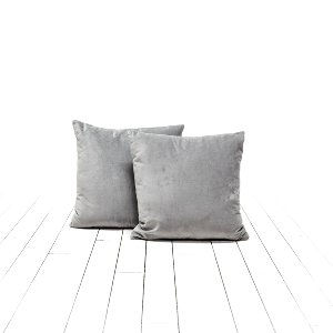 Pale Gray Velvet Pillows