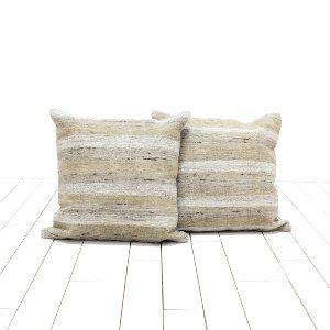 Taupe Hemp Pillows