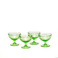 Green Depression Sherbet Glasses