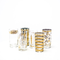 Gold Mid-Century Tumblers