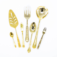 Mismatched Gold Servingware