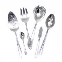Mismatched Silver Servingware