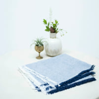 Fringed Chambray Napkins