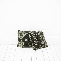 Black Mudcloth Pillows