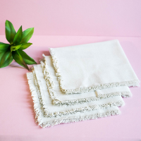 Fringed Natural Dinner Napkins