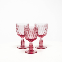 Pink Water Goblets