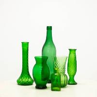 Assorted Green Glass