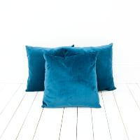 Peacock Blue Velvet Pillows