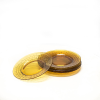 Brown Depression Glass Plates