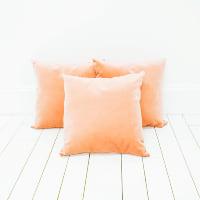 Peach Velvet Pillows