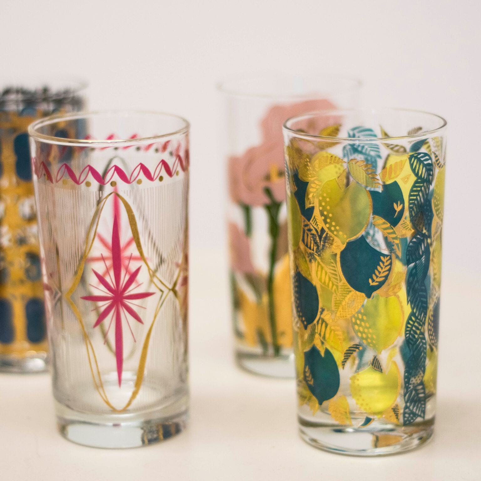 Colored Mid-Century Tumblers