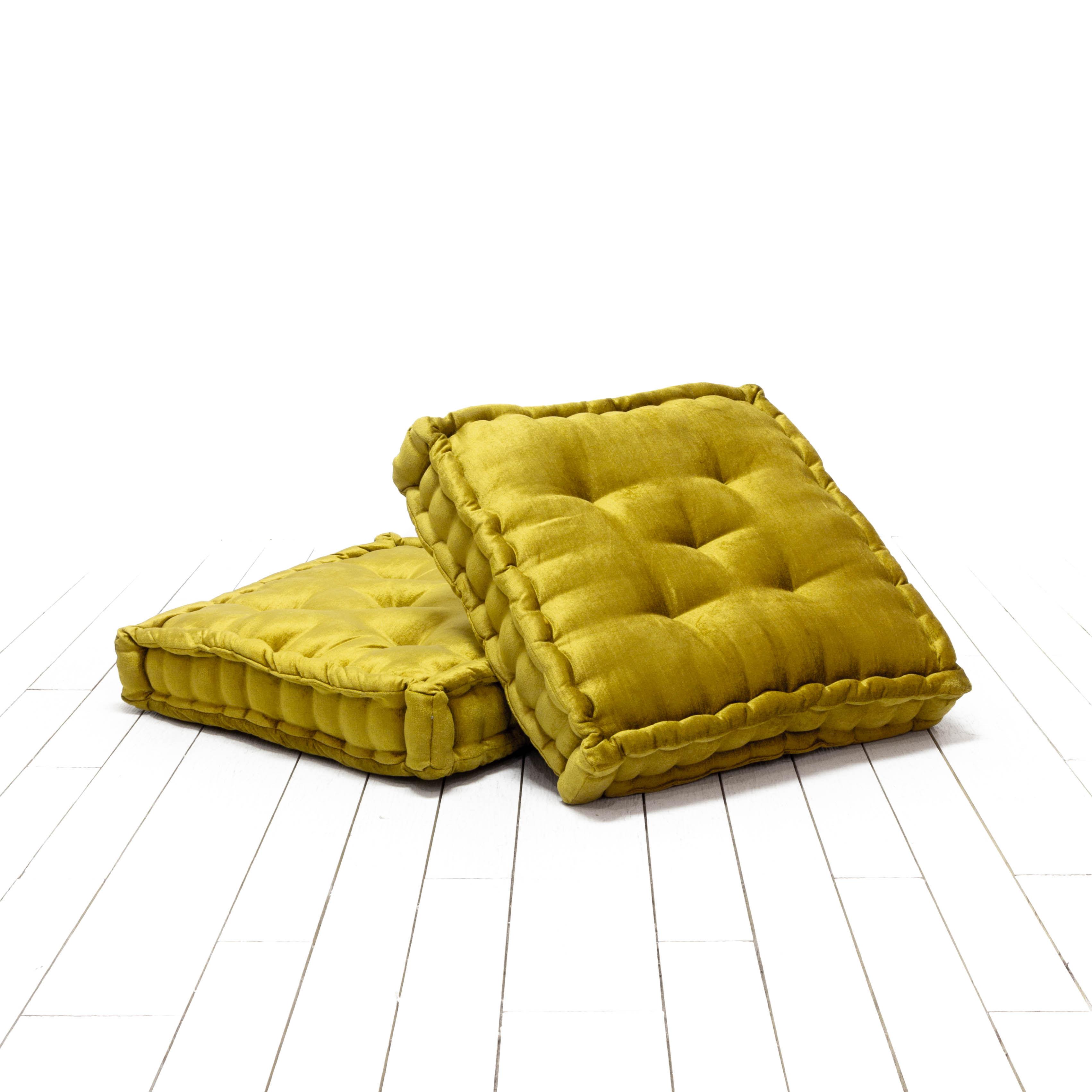 Hailey Floor Cushions -Chartreuse