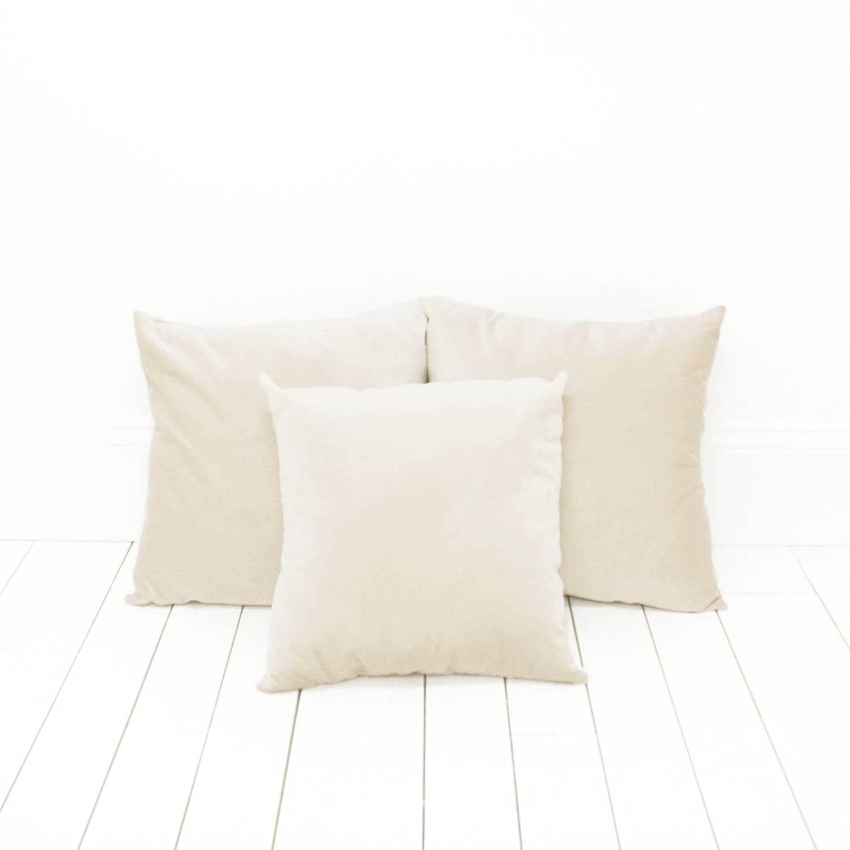 Cream Velvet Pillows