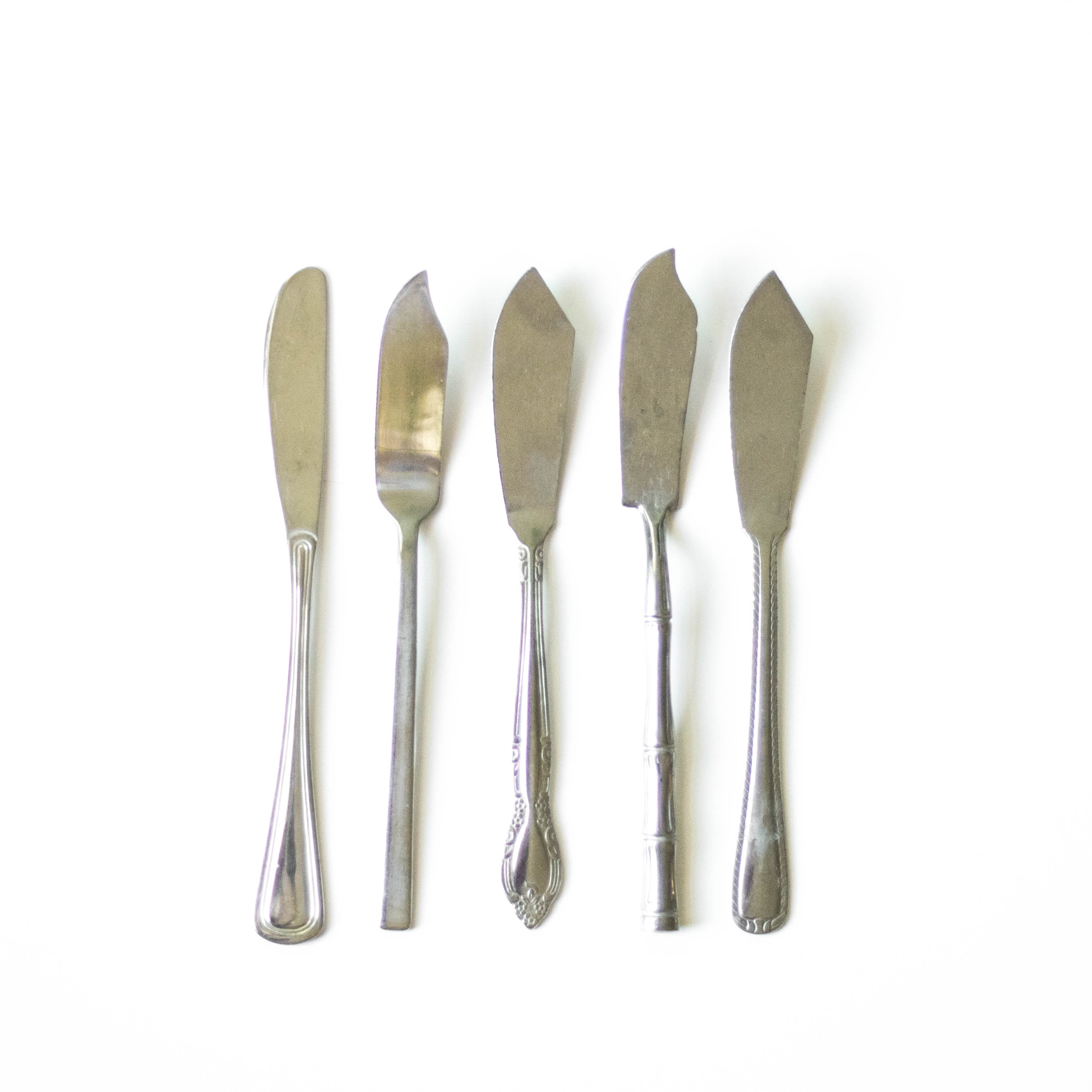 Assorted Silver Cheese Knives