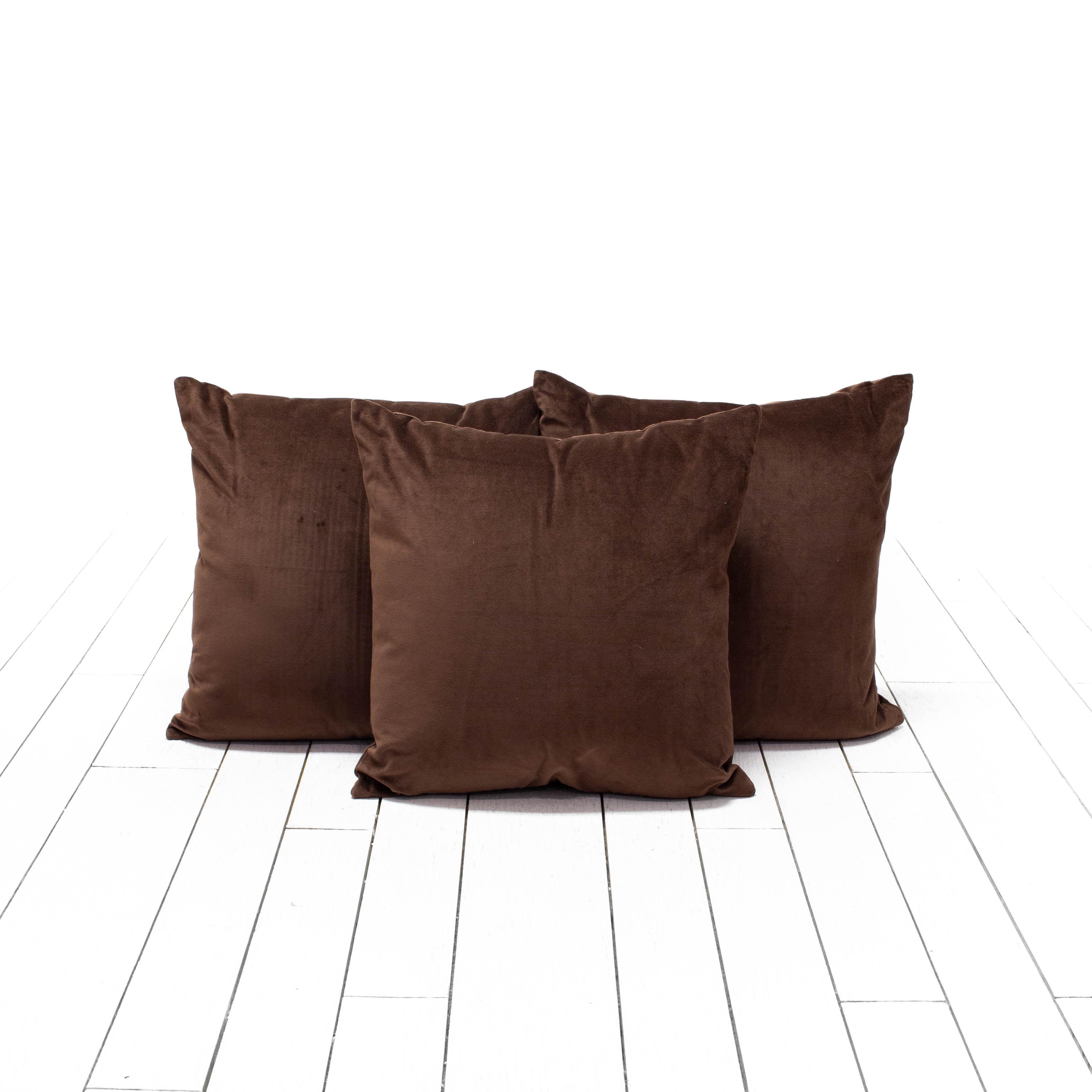 Chocolate Velvet Pillows